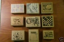 RUBBER STAMPS (MOUNTED) MISCELLANEOUS Lot   (9 ) Qty