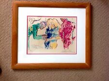 """LEROY NEIMAN MUNICH OLYMPICS 1972 """" EXCHANGING PINS"""" ORIG. SGND NUM LITHO"""