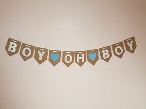 """""""BOY OH BOY"""" Bunting / Banner / Twins Decoration, Mum to be Garland Baby Shower"""