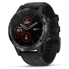 Garmin Fenix 5 Plus Sapphire Gps Watch (Black with Black Band) 010-01988-00