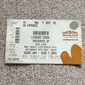 Leonard Cohen ticket  Wembley Arena 08/09/12 #22