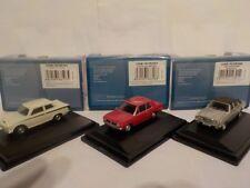 Ford Cortina Mk1,Mk2,Mk3, White,Red,Silver, Model Cars, Oxford Diecast 1/76