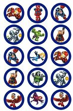 Super Hero Squad The Avengers BADGE Party Favour Lolly Bag Loot Birthday Card