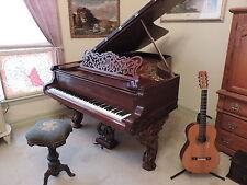 """Gorgeous Antique 1882 Weber Rococo Cabriole 6'3"""" Grand Piano"""