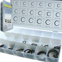 Fixman External Steel Circlip Mixed Assortment Pack of 64 Cir Clips 262429