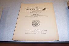 LE PAYS LORRAIN 1954 N° 1 le cristal BITCHE