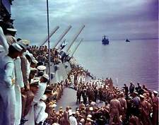 COLOR WWII Photo Japanese Surrender USS Missouri WW2 World War Two GREAT PHOTO