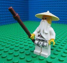 Lego Sensei Wu white minifig Ninjago 9450 Sensai Wu Woo Rare!