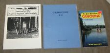 Journal of the Native WaterCraft Society w/Canoeing A-Z, lot of 3 books 1950-95