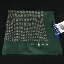 Polo Ralph Lauren 100 Silk Green Pocket Square Made in Italy