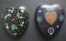 Superbe boite japon coeur emaillé Old japanese box heart enamel cloisonné XIX