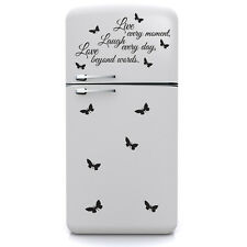 wall stickers adesivo murale frase amore vita sorriso farfalle butterfly frigo