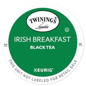 Twinings Irish Breakfast Black Tea 24 to 144 Count Keurig K cups Pick Any Size