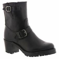 FRYE Women's Sabrina Moto Engineer Boot, Black, Size 8.0 ajTp