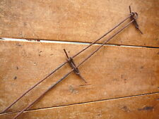 JACKSONS HAIRPIN DOUBLE LINE  VERTICAL FENCE STAY - ANTIQUE BARBED BARB WIRE