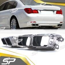 2x Chrom Doppelrohr Auspuffblenden Endrohre für BMW 7er F02 F01 760Li 750i 730d