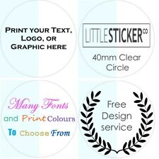 CLEAR Wedding Stickers Personalised Labels for Favours Gift seals glossy 50