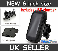Waterproof  Motorbike motorcycle Bike GPS SAT NAV Case Holder with USB charger