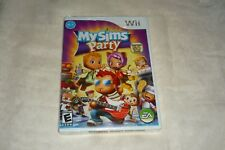 MySims Party (Nintendo Wii, 2009) BRAND NEW AND FACTORY SEALED