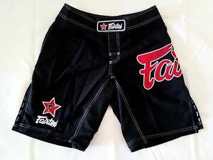 Fairtex AB1/P Muay Thai Kick Boxing MMA Shorts -Black/ Red Logo