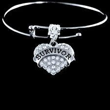 Breast cancer Survivor Bracelet  Stroke survivor bracelet Heart attack survivor