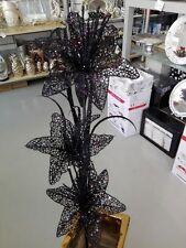 Moderne Lilien Dekoration Dekozweig Kunstblumen Farbe Schwarz/mit Glitzern