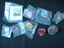 Huge Lot of 9 Rare M/C Motorcycle Club Poker Run Pins Badges Pinbacks