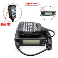 25W Transceiver Larger Screen 2Meter/70CM Dual Band 2-Way Car Mobile Ham Radio