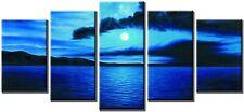 Wieco Modern Abstract Dark Blue Ocean Seascape Canvas Wall Art