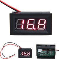 """0.56"""" DC 3.2-30V Ammeter Red LED Amp Two-wire Volt Meter Gauge Digital Voltmeter"""