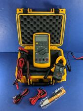 New Fluke 87V TRMS Multimeter, Screen Protector, Clamp, Hard Case, More