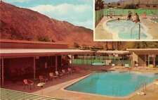 Palm Springs California Rancho Trailer Park Swimming Pool Postcard J70749