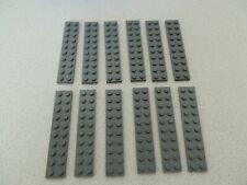 Lego 3832# 12x Basic Platten Plättchen 2x10 flach in neu dunkelgrau grau 10182