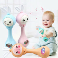 Infants Baby Rattles Toys Hand Bells Music And Light Shaking Rattles 0-12 Months