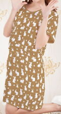 Rabbit Easter Women Short Sleeve Waist String Loose Dress b124 acc04161