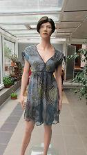 Dept -  Kleid Gr.XS  grün petrol schlammtöne mit Futter
