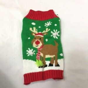 Holiday Time Reindeer Dog Sweater NWT Size XSmall