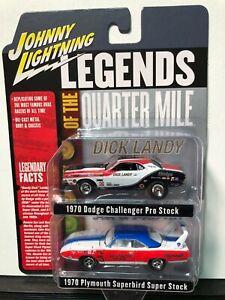 1/64 JOHNNY LIGHTNING LEGENDS DICK LANDY CHALLENGER & SOX & MARTIN SUPERBIRD SET