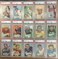 1952 BOWMAN LARGE Football Set (1st Series #1-72) ALL PSA GRADED