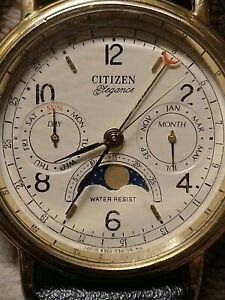 Vintage Citizen Masterpiece Elegance Perpetual Moon Phase 6350-G30241 K