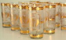 INDIANAPOLIS 500 DRINKING GLASSES CIRCA 1960s 1970S PRICE SHOWN IS FOR 4 GLASSES