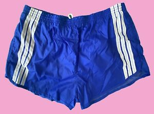 Liki Liki Vintage Sport Shorts XL 70s 80s 70er 80er Hawaii Blau Streifen Hose