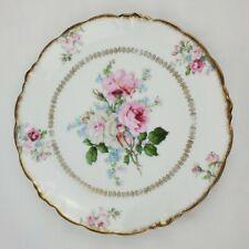 "Lovely J & C (Jaeger & Co.) ""Malmaison"" Bavaria Plate 8.5"" Large Floral Rose"