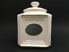 THL Beaded Shabby Chic Tea Canister With Lid