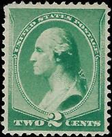 VEGAS - 1887 USA Sc# 213 2c Washington - Mint, Re-Gum - Corner Thin Up Left EF21