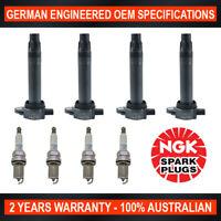 4x Genuine NGK Platinum Spark Plugs & 4x Ignition Coil for Dodge Avenger JS 2.4L