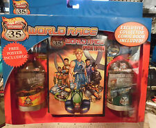 Hot Wheels World Race Highway 35 Collector Edition Comic with 2 cars #10 & #29