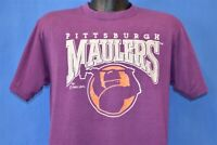 vintage 80s PITTSBURGH MAULERS USFL MINING PURPLE 1984 t-shirt FOOTBALL LARGE L