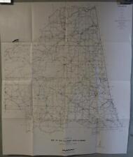 Vintage Piedmont Alabama Area Wells Springs US Dept Commerce Transportation Map