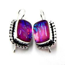 Australian Triplet Opal 925 Sterling Silver Plated Handmade Jewelry Earring 7 Gm